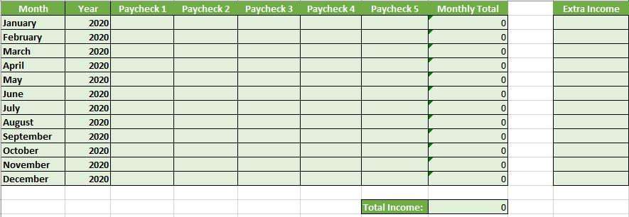 Income Tab
